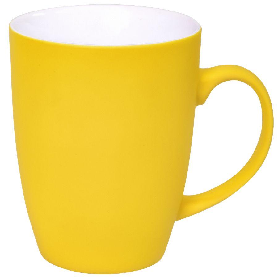Кружка «Sweet» с прорезиненным покрытием, желтый, 350 мл, фарфор