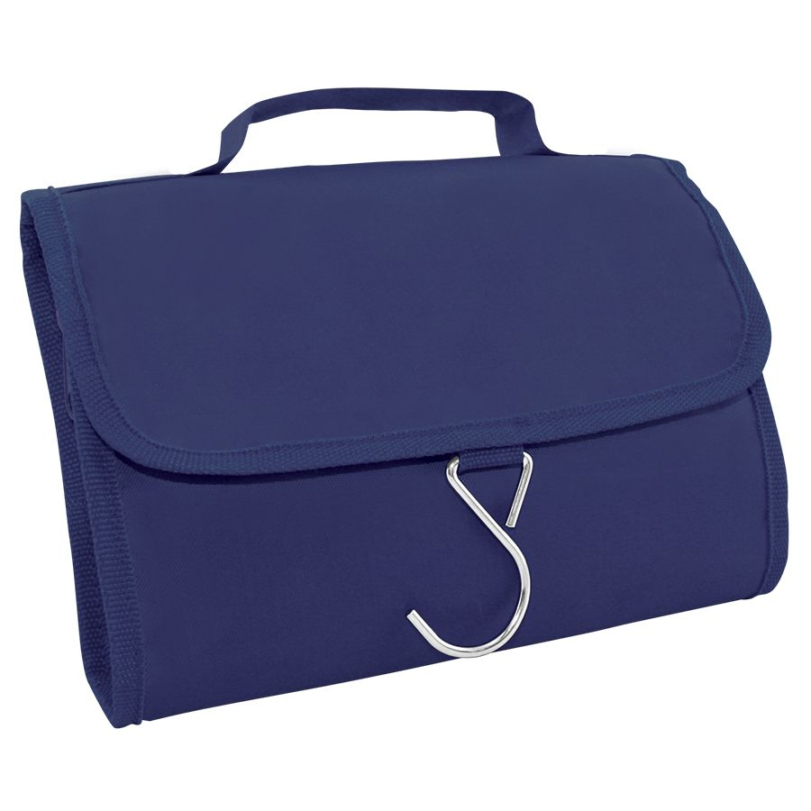 Несессер дорожный «Comfort»; синий; 21,5х17,5х2 см; полиэстер; шелкография