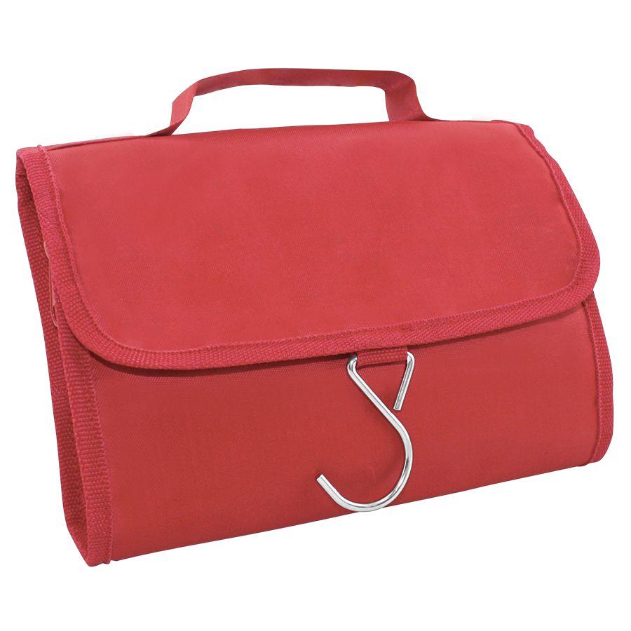 Несессер дорожный «Comfort»; красный; 21,5х17,5х2 см; полиэстер; шелкография