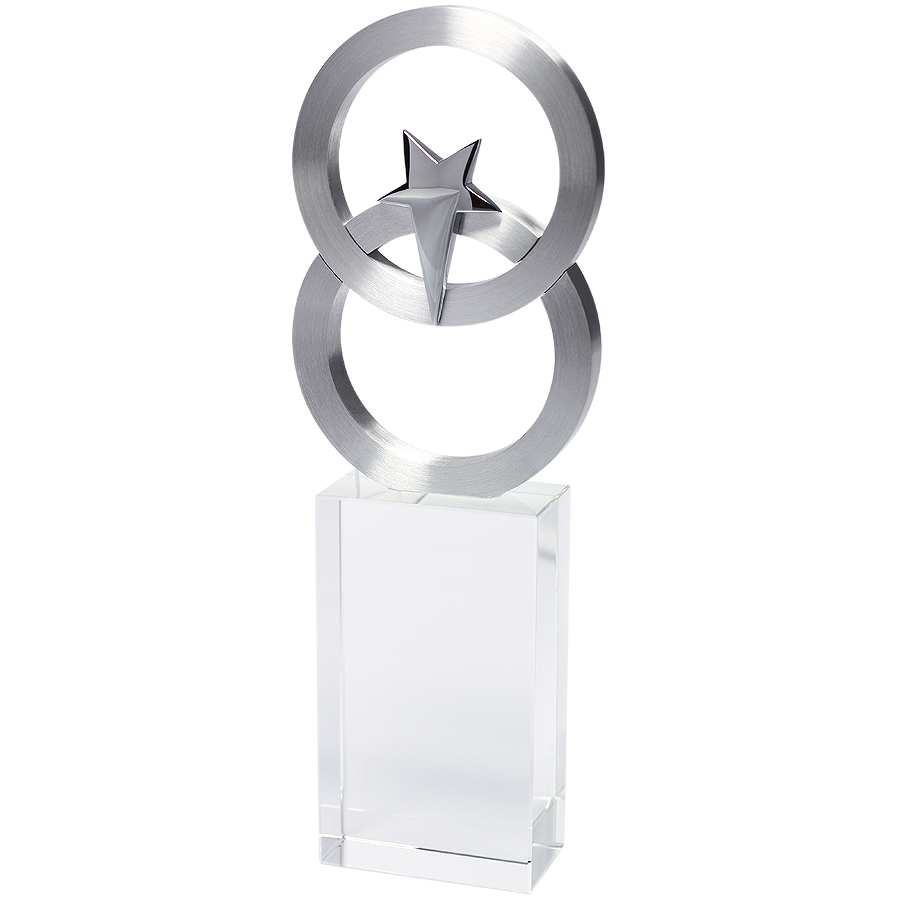 Стела «Полярная звезда» в подарочной упаковке;7х3х21 см; стекло, металл; лазерная гравировка