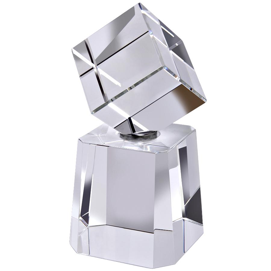 Стела «Cubism» в подарочной упаковке; 6х7х13 см; стекло; лазерная гравировка