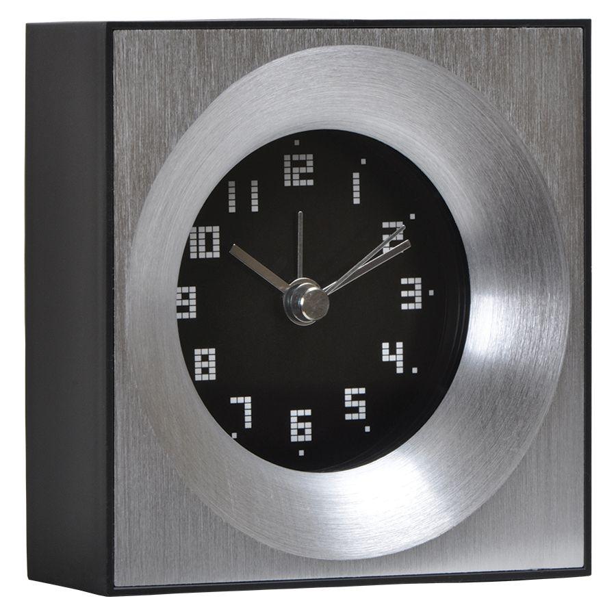 Часы настольные «Кабинет» ; 10х4,2х10 см; металл, пластик; лазерная гравировка, тампопечать
