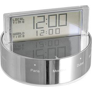 """Часы """"Мир""""; D=7,9 см; H=5,2 см; металл; лазерная гравировка"""