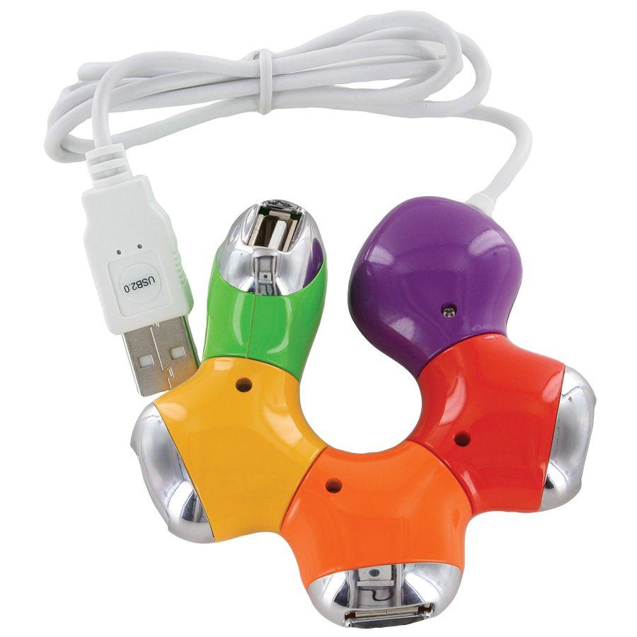 USB-разветвитель «Трансформер»; D=8 см; H=1,9 см; пластик; тампопечать