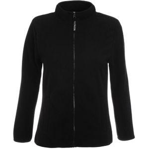"""Толстовка """"Lady-Fit Full Zip Fleece"""", черный_XS, 100% п/э, 250 г/м2"""