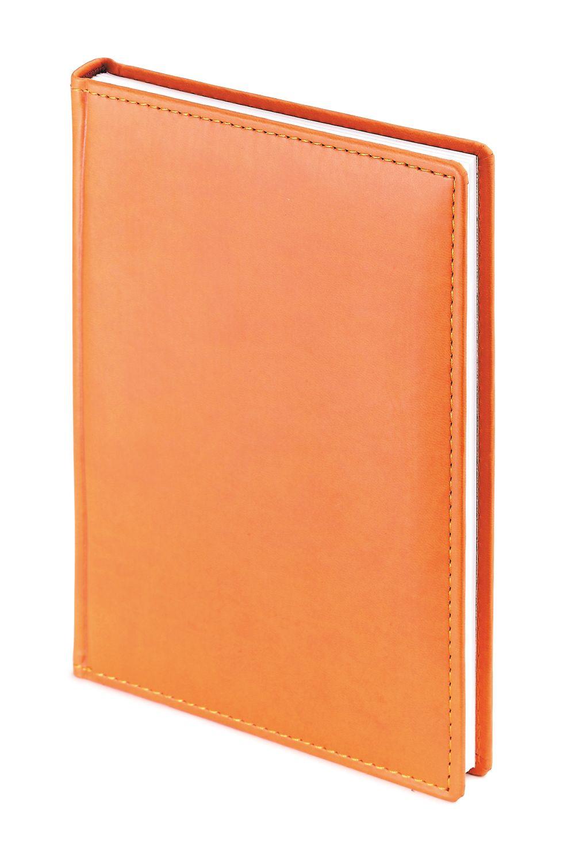 Ежедневник недатированный Velvet, А4, оранжевый, белый блок, без обреза