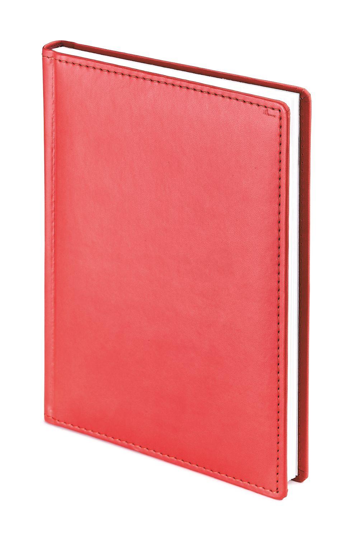Ежедневник недатированный Velvet, А4, красный, белый блок, без обреза