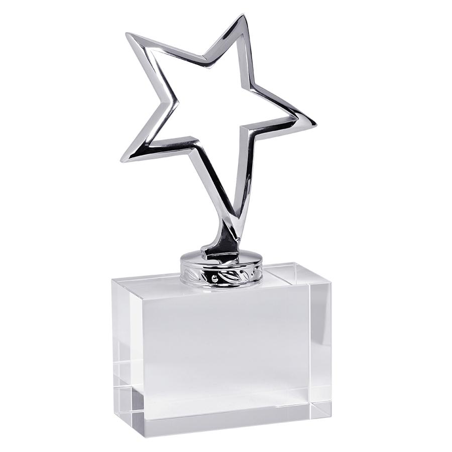 Стела «New Star» в подарочной упаковке; 8,3х4х17см, металл, стекло