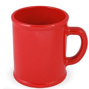 Кружка «Радуга»; красная, D=7,9см, H=9,6см, 300мл; пластик; тампопечать