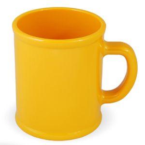 Кружка «Радуга»; желтая, D=7,9см, H=9,6см, 300мл; пластик; тампопечать