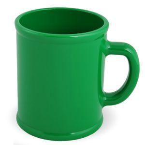 Кружка «Радуга»; зеленая, D=7,9см, H=9,6см, 300мл; пластик; тампопечать
