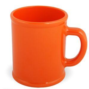 Кружка «Радуга»; оранжевая, D=7,9см, H=9,6см, 300мл; пластик; тампопечать