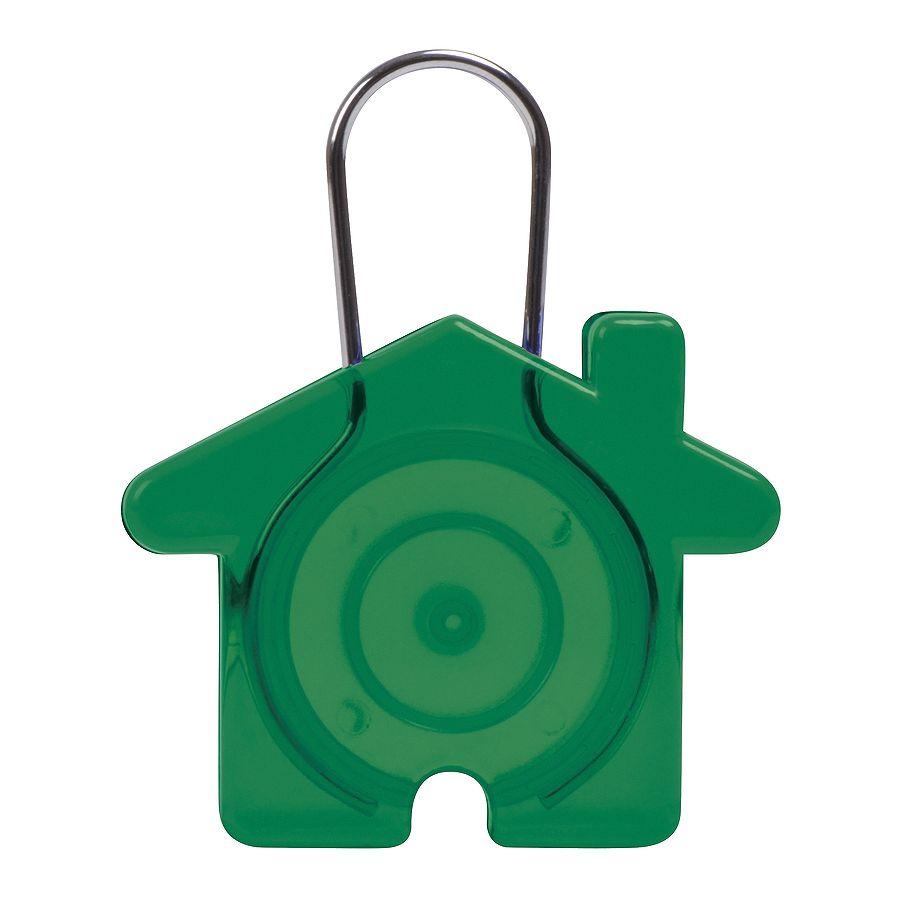 Фотография товара Брелок «Дом», зеленый, 5,8х4,7х0,9см, пластик, металл