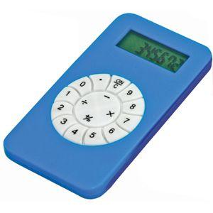 Калькулятор; синий; 5,8х10,2х0,8 см; пластик; тампопечать