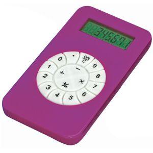 Фотография товара Калькулятор; розовый; 5,8х10,2х0,8 см; пластик; тампопечать