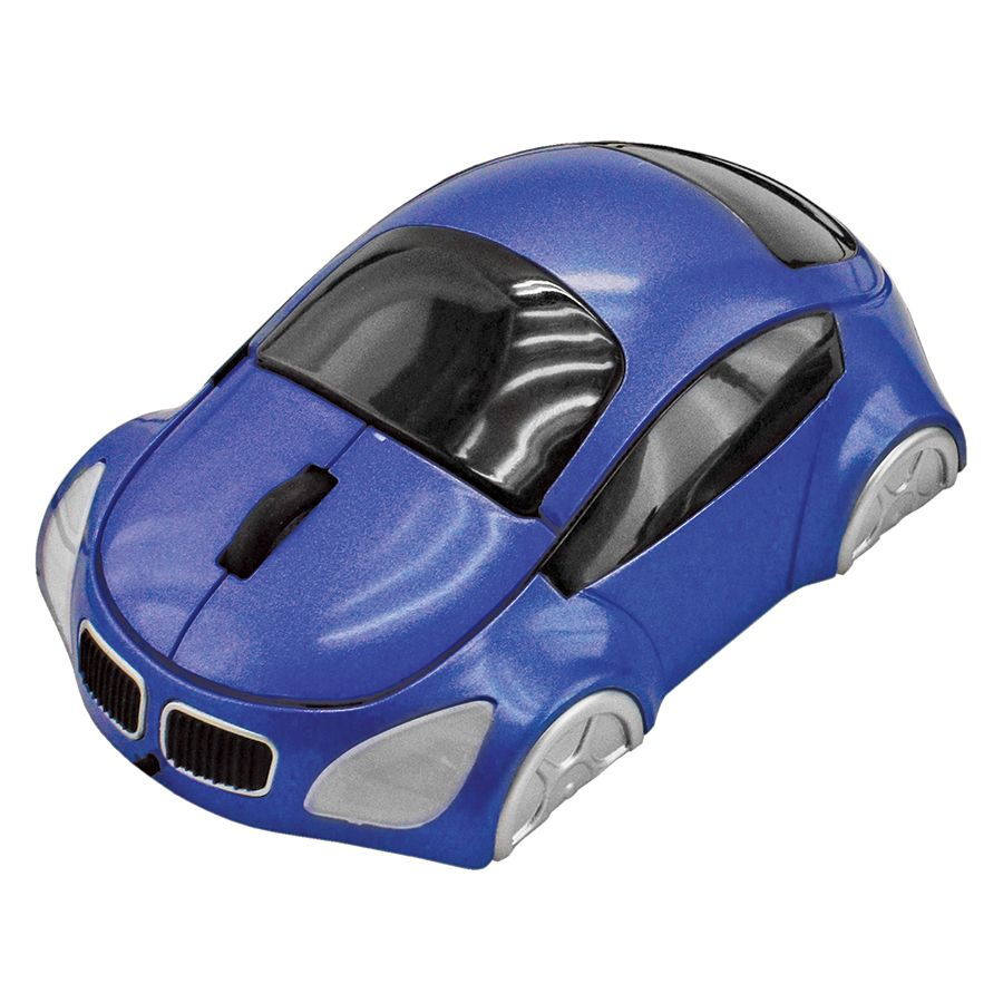 Мышь компьютерная  оптическая «Автомобиль»; синий; 10,4х6,4х3,7см; пластик; тампопечать