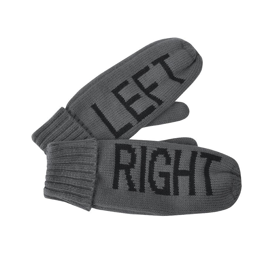 Фотография товара Варежки «LEFT&RIGHT»,  серый, L, акрил/флис внутри,  шеврон
