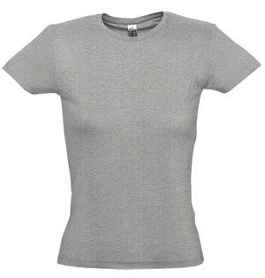 """Футболка """"Miss"""",  серый меланж_XL, 100% хлопок, 150 г/м2"""