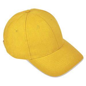 Бейсболка «Classic», 6 клиньев, металлическая застежка; желтый; 100% хлопок; плотность 270 г/м2