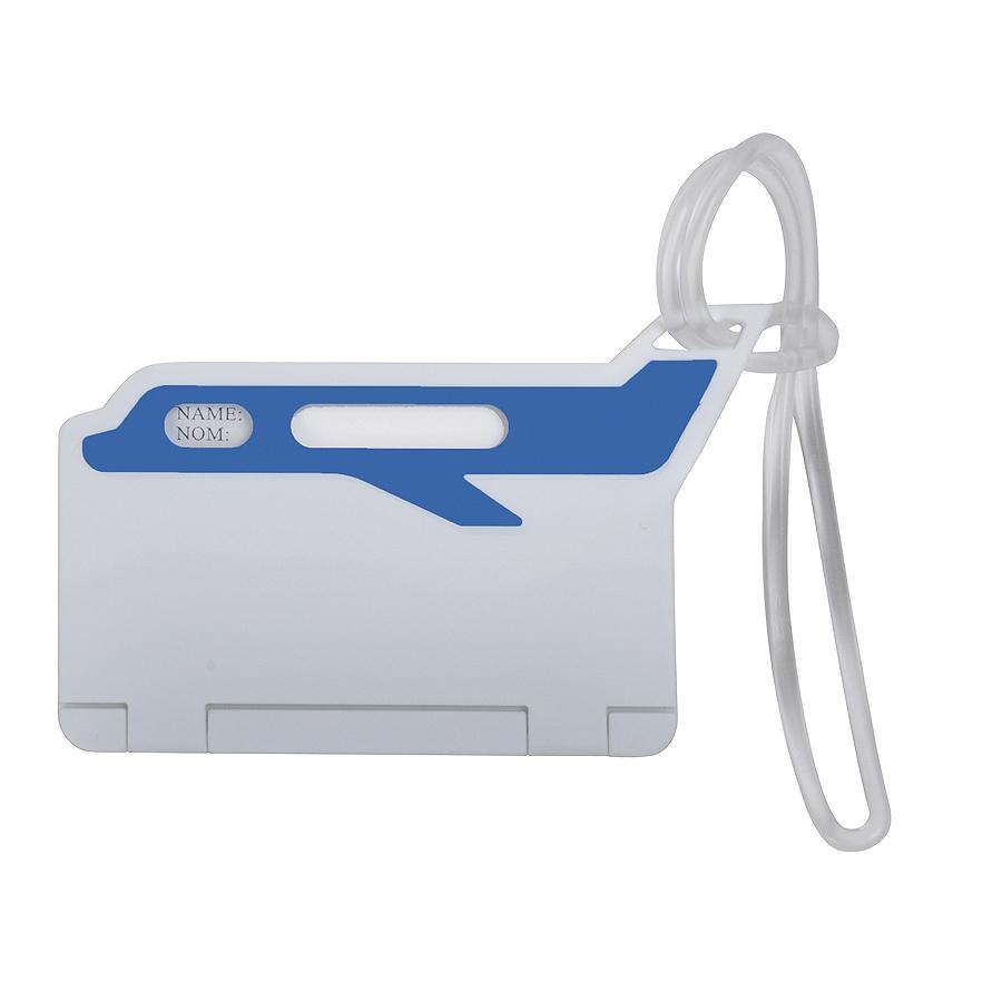 Бирка багажная «САМОЛЕТ»; синий; 10*5,5 см; пластик; тампопечать