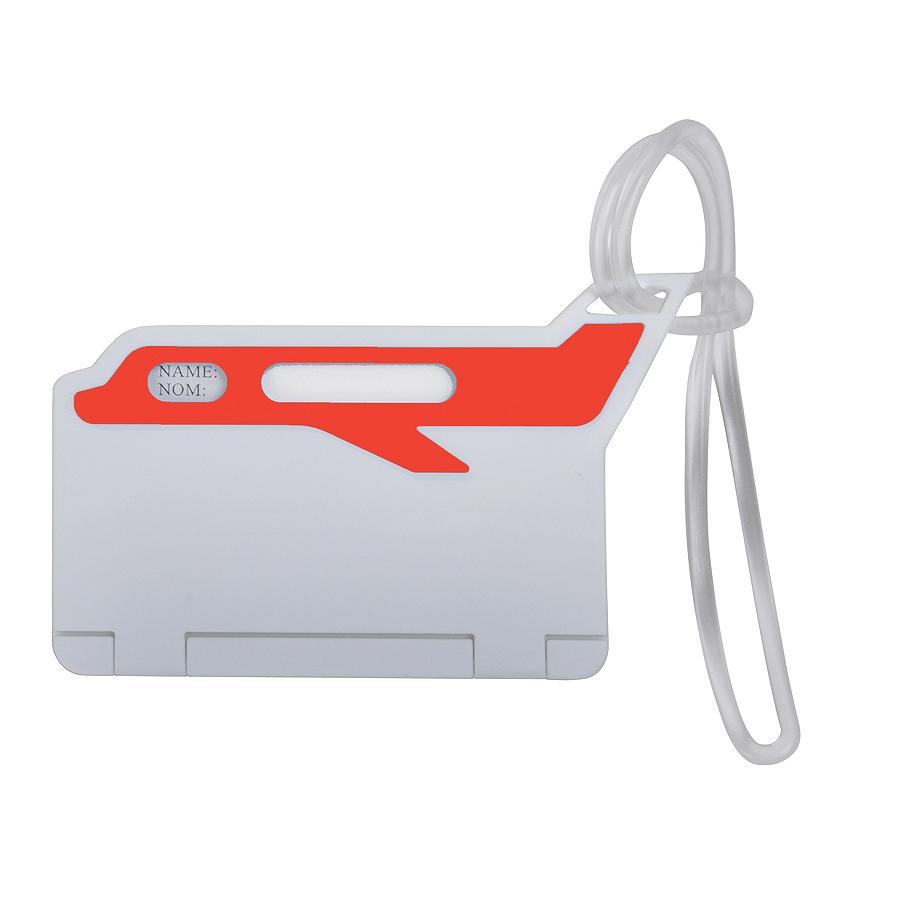 Бирка багажная «САМОЛЕТ»; красный; 10*5,5 см; пластик; тампопечать