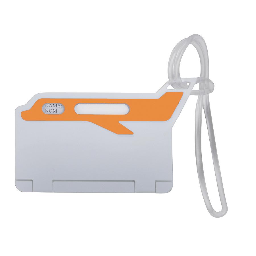 Бирка багажная «САМОЛЕТ»; оранжевый; 10*5,5 см; пластик; тампопечать