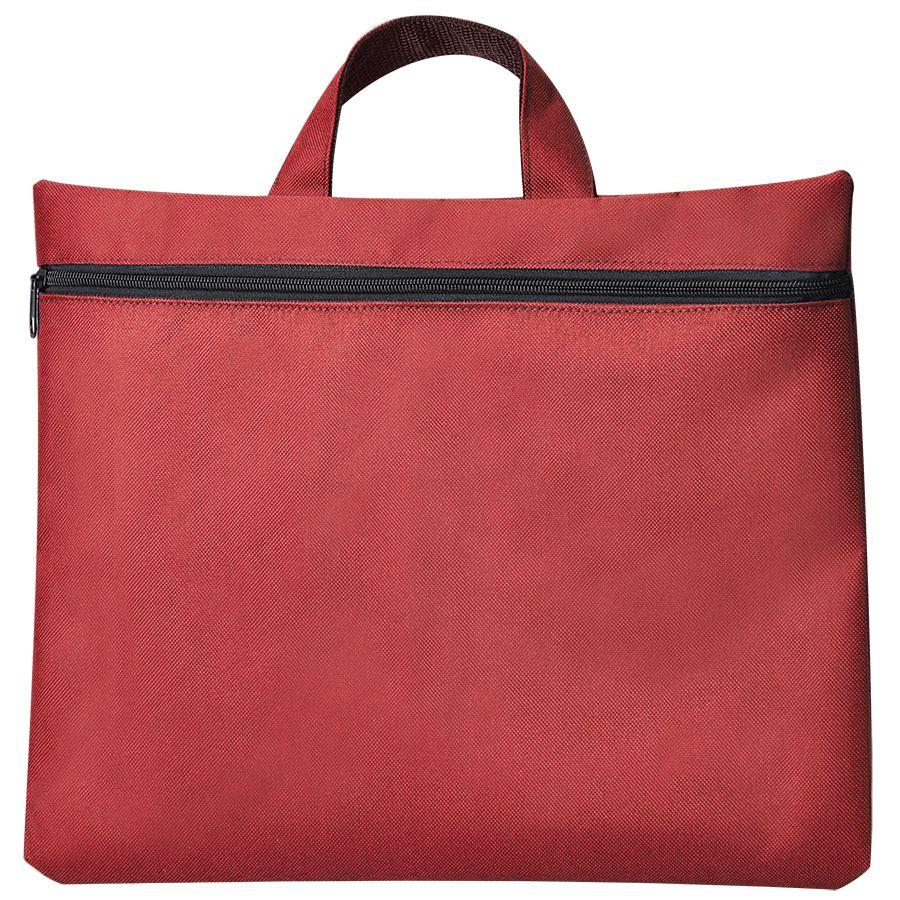 Сумка для документов «Paper»; красный; 40х30 см;полиэстер; шелкография