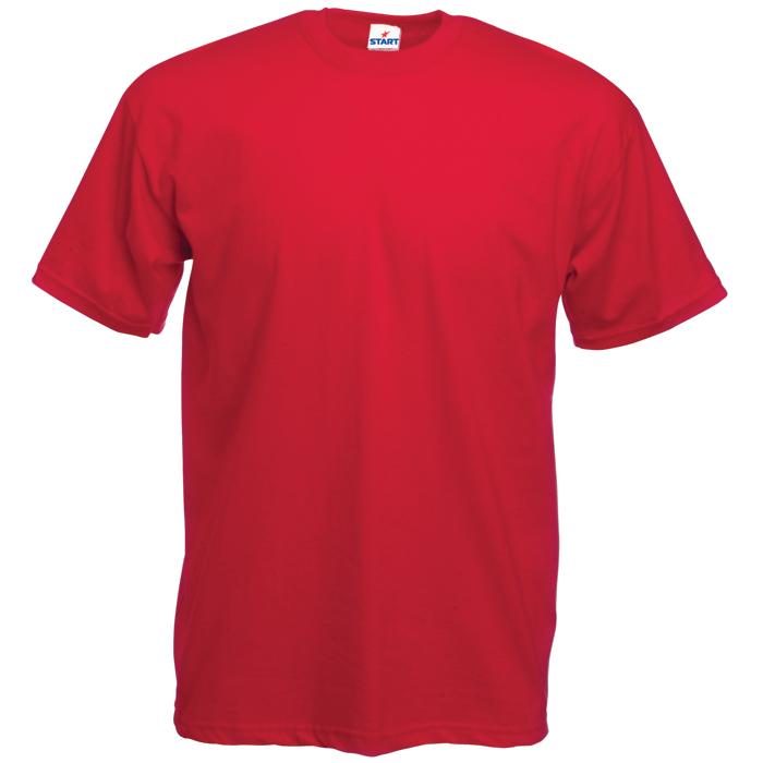 Футболка бесшовная «Start», красный_XL,  100% х/б, 150 г/м2
