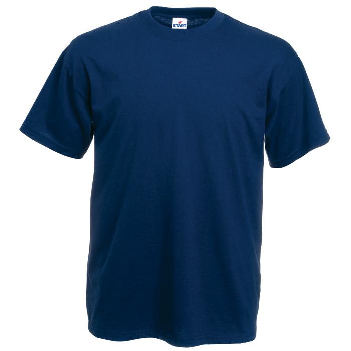 Футболка бесшовная «Start», темно-синий_XL,  100% х/б, 150 г/м2