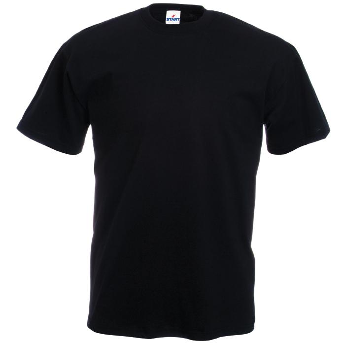 Футболка бесшовная «Start», черный_L,  100% х/б, 150 г/м2