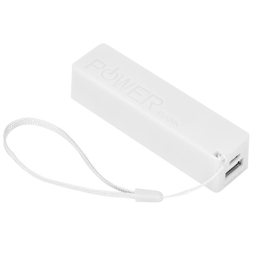 Универсальное зарядное устройство «Keox» (2000mAh), белый, 9,7х2,6х2,3 см,пластик