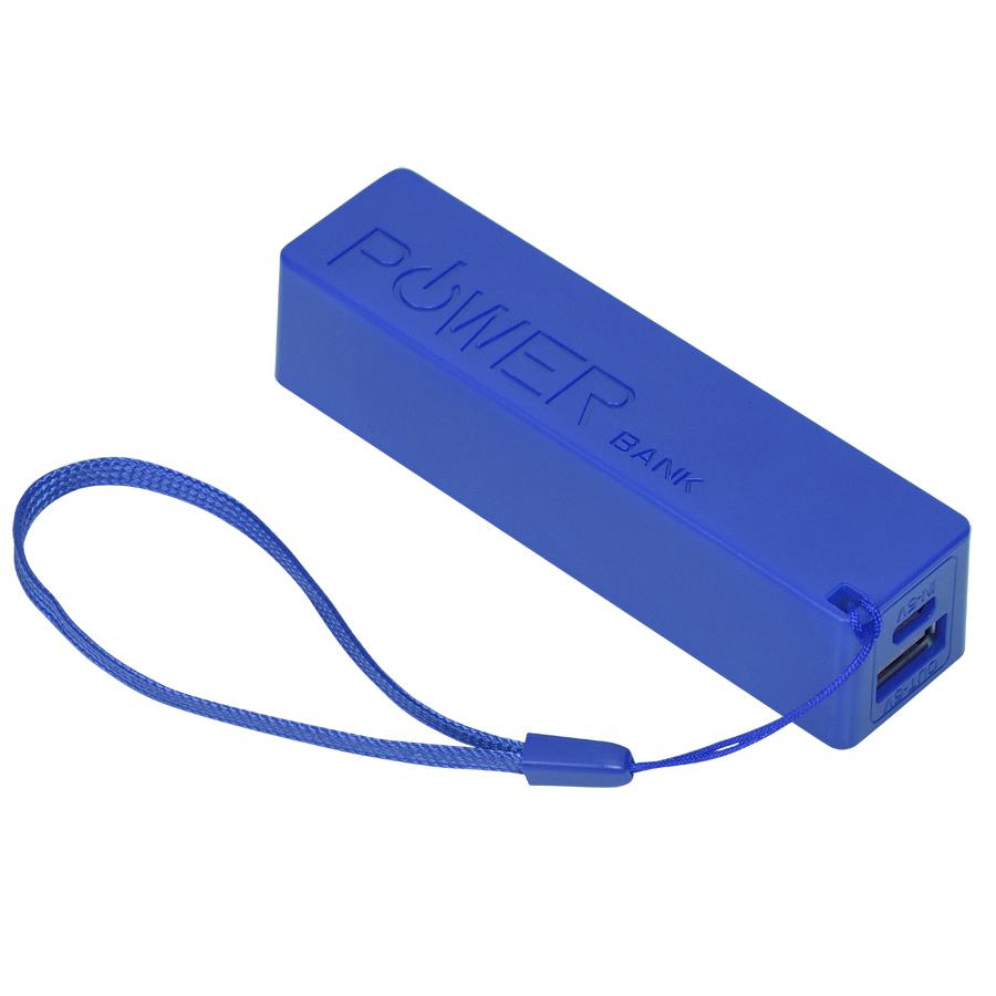Универсальное зарядное устройство «Keox» (2000mAh), синий, 9,7х2,6х2,3 см,пластик
