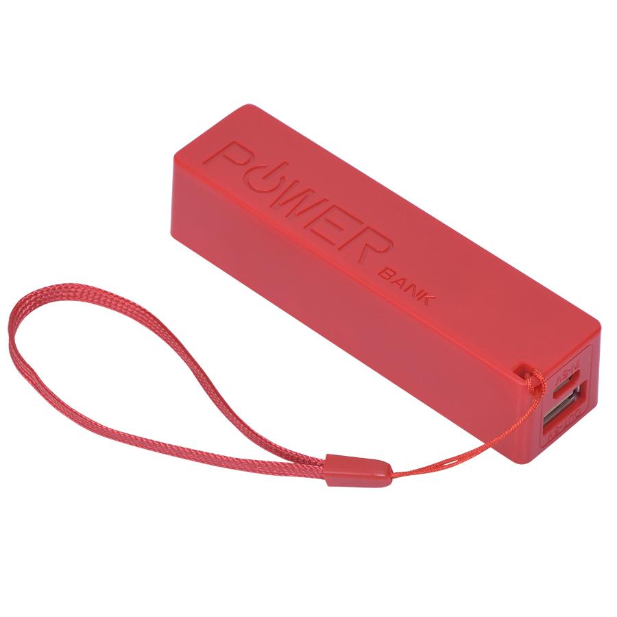 Фотография товара Универсальное зарядное устройство «Keox» (2000mAh), красный, 9,7х2,6х2,3 см,пластик