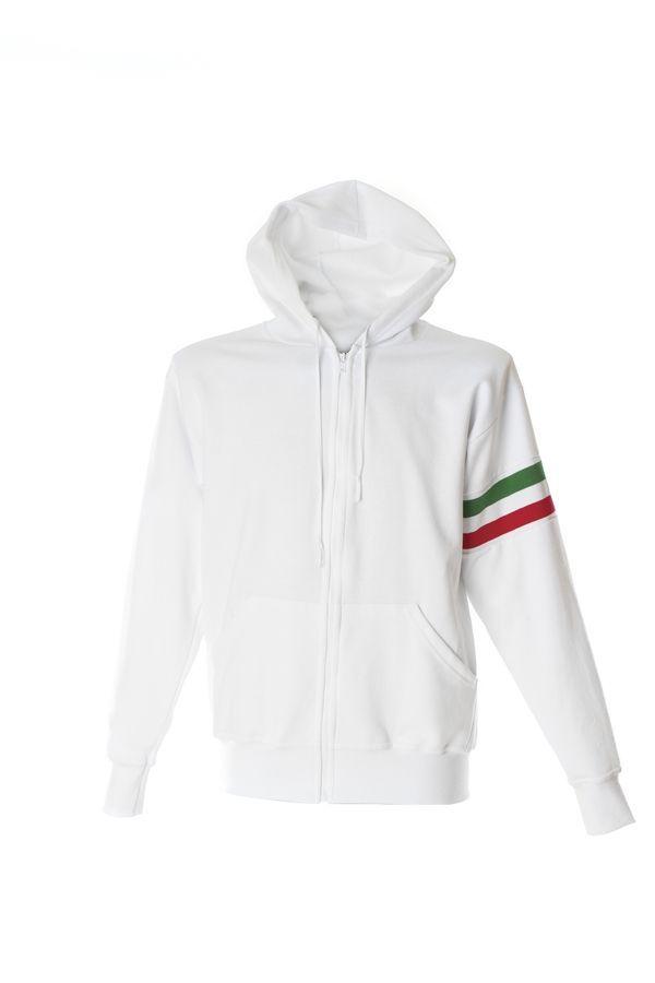 VERONA Толстовка Италия с капюшоном, на молнии, белый, размер M