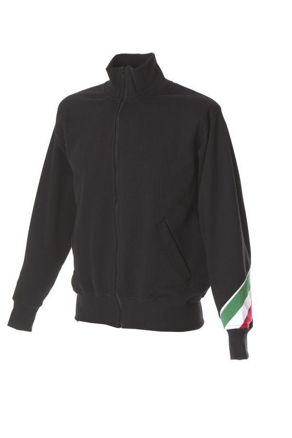 PESARO Толстовка Италия воротник-стойка, на молнии, черный, размер XL