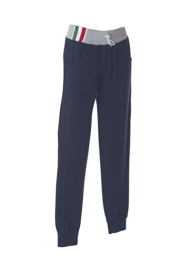 PALERMO Штаны Италия темно-синий/серый меланж, размер L