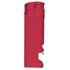 Зажигалка пьезо ISKRA с открывалкой, красная, 8,2х2,5х1,2 см, пластик/тампопечать