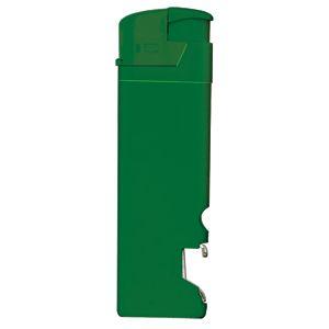 Зажигалка пьезо ISKRA с открывалкой, зеленая, 8,2х2,5х1,2 см, пластик/тампопечать