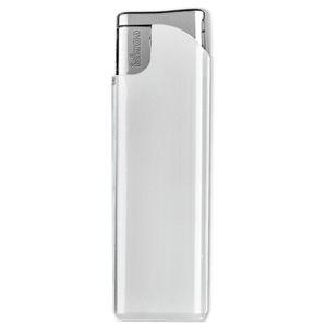 Фотография товара Зажигалка пьезо ISKRA, белая, 7,9х2,4х0,91 см, пластик/тампопечать