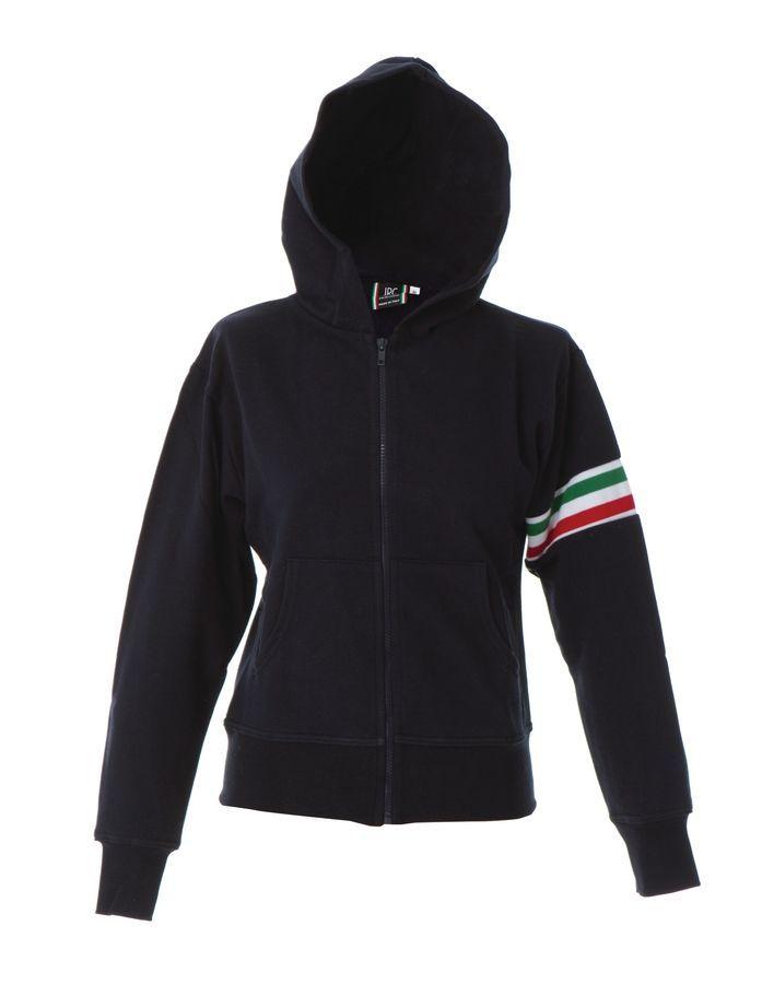 ELBA Жен. Толстовка Италия, с капюшоном, на молнии, темно-синий, размер L