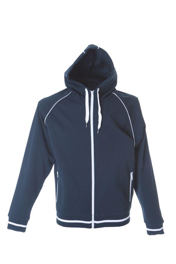 COIMBRA Толстовка, с капюшоном, на молнии,  темно-синий, размер XL