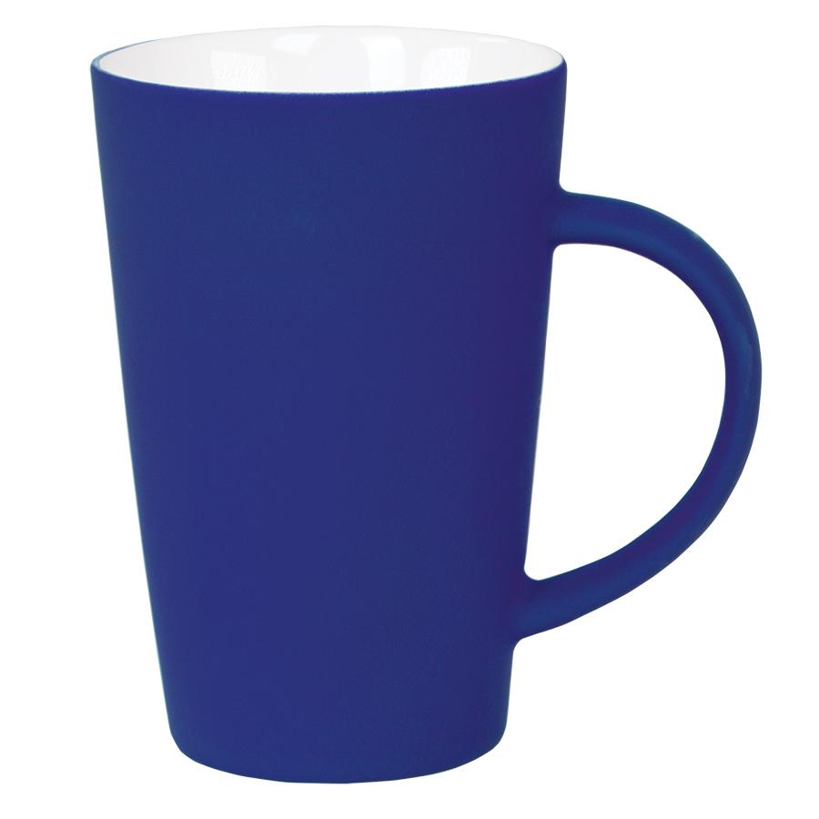 Кружка «Tioman» с прорезиненным покрытием, синий, 320 мл, фарфор
