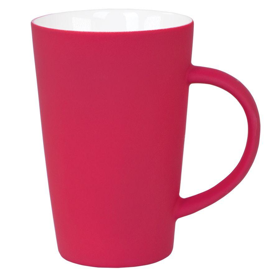 Кружка «Tioman» с прорезиненным покрытием, красный, 320 мл, фарфор