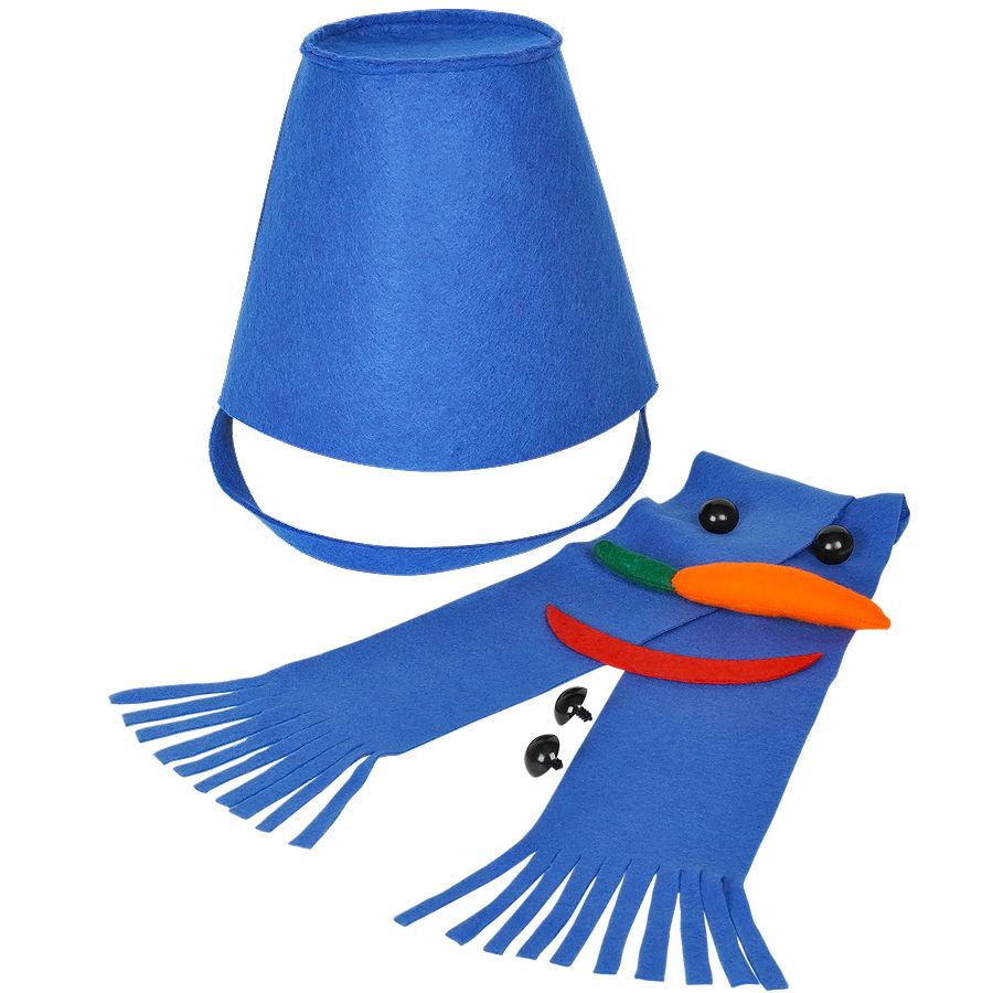 Фотография товара Набор для лепки снеговика  «Улыбка», синий, фетр/флис/пластик