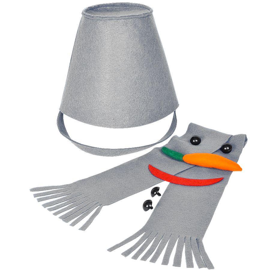 Фотография товара Набор для лепки снеговика  «Улыбка», серый, фетр/флис/пластик
