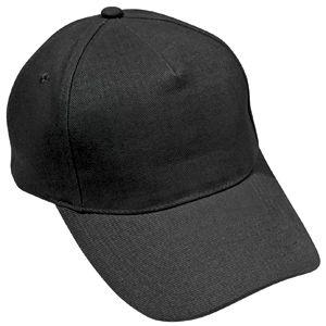 Бейсболка «Light», 5 клиньев,  застежка на липучке; черный; 100% хлопок; плотность 150 г/м2
