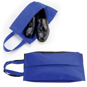 Футляр для обуви на молнии «HAPPY TRAVEL», синий, нетканка , 20*42*15 см, шелкография