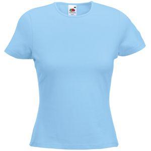 "Футболка ""Lady-Fit Crew Neck T"", небесно-голубой_S, 95% х/б, 5% эластан, 210 г/м2"