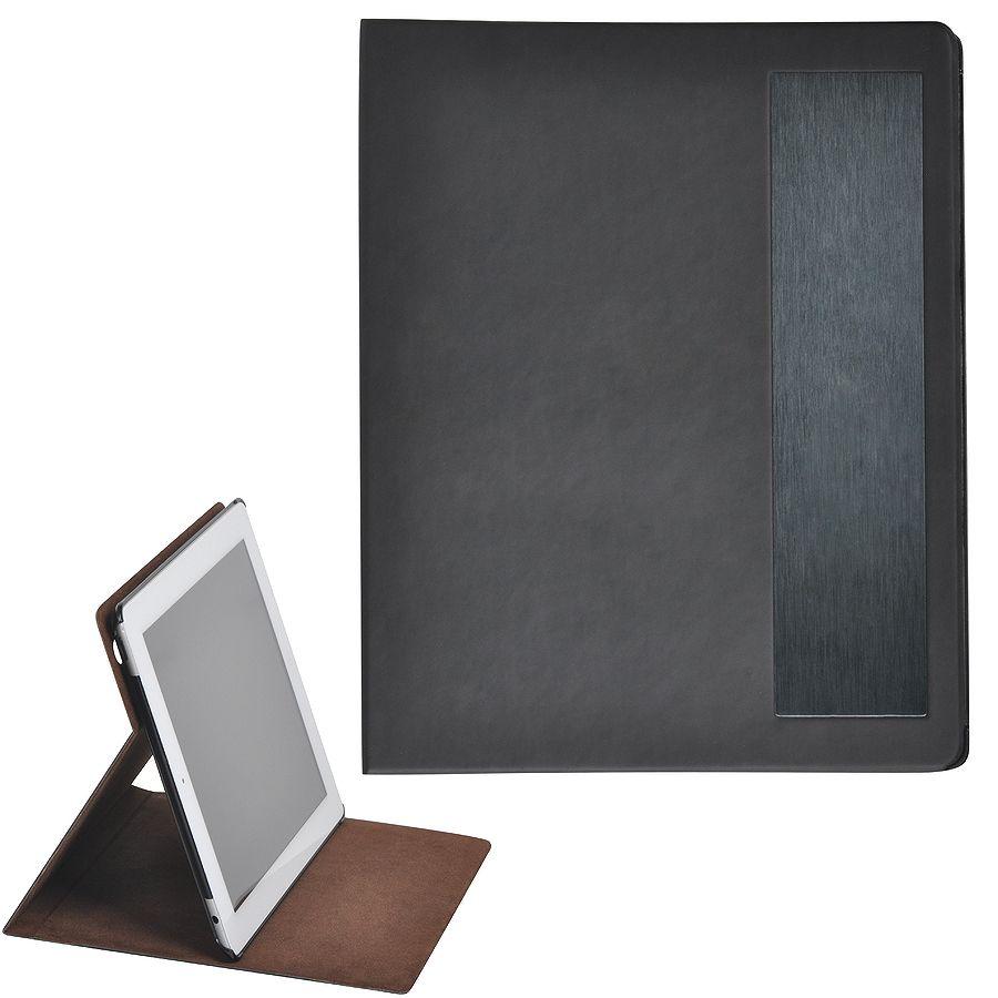 """Чехол-подставка под iPAD """"Смарт"""",  черный, 19,5×24 см,  термопластик, тиснение, гравировка"""