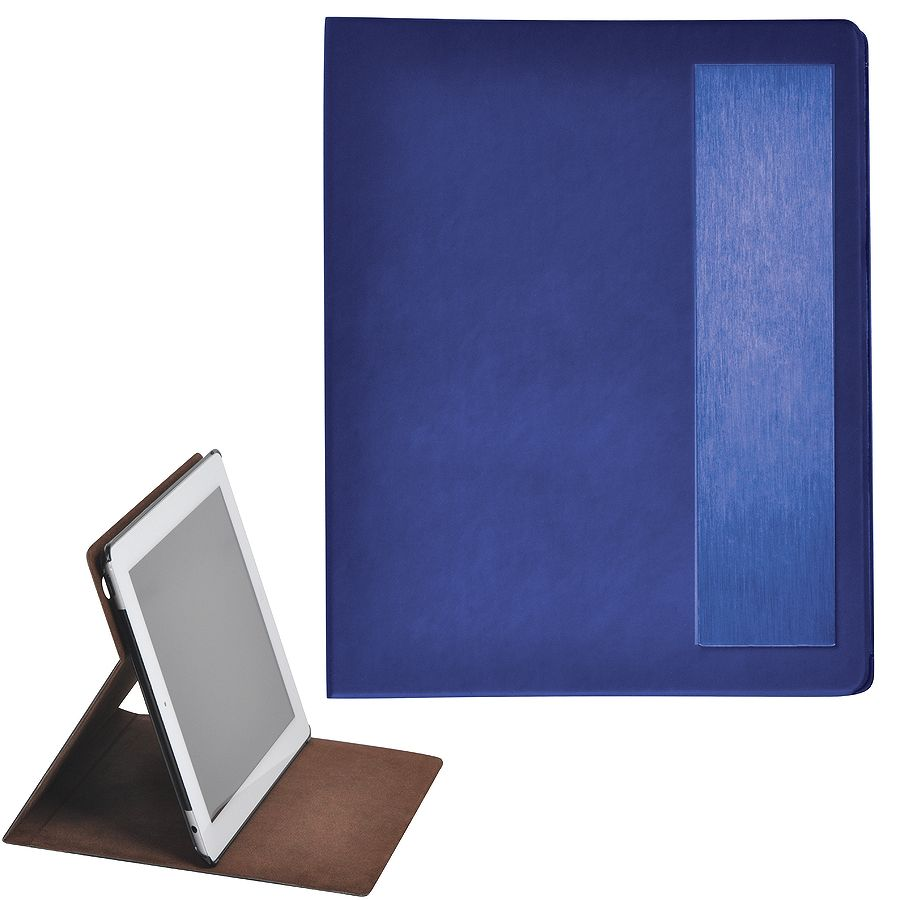 "Чехол-подставка под iPAD ""Смарт"",  синий,  19,5×24 см,  термопластик, тиснение, гравировка"